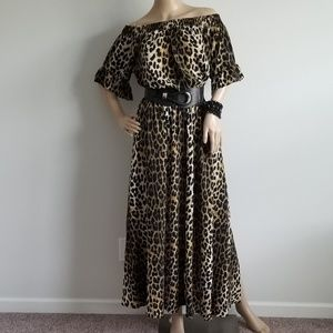 CITY CHIC OFF SHOULDER LEOPARD PRINT MAXI DRESS 16